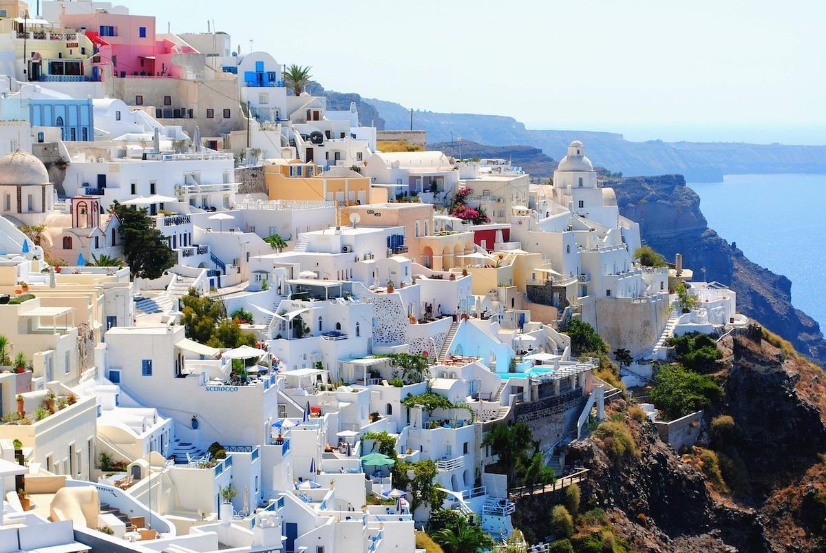 Kleurrijke steden Santorini Griekenland