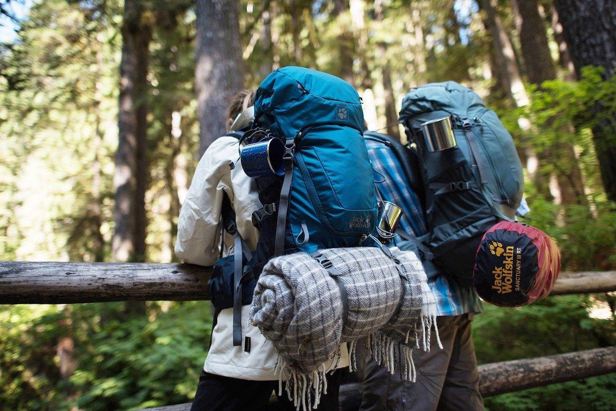 Backpack kampeerspullen